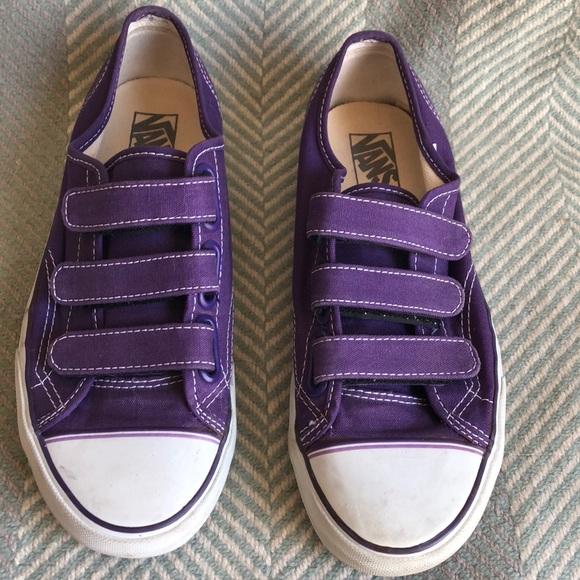 Vans Purple Women s 8 Mens 6.5 Velcro tennis Shoes.  M 5b1ff46cf63eeac7b4007947 2033907e8